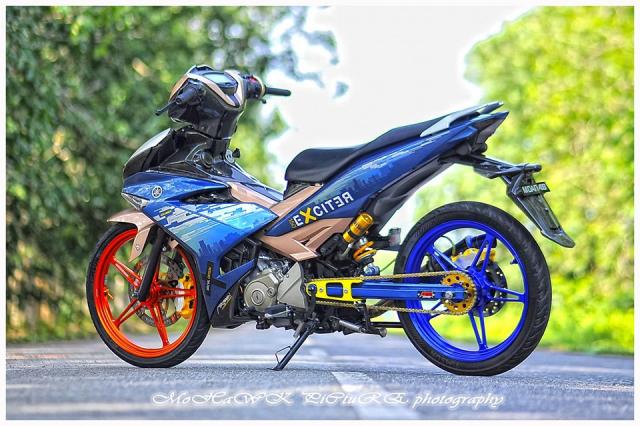 Exciter 150 do 2 cap mam CNC cua biker den tu Malaysia - 14