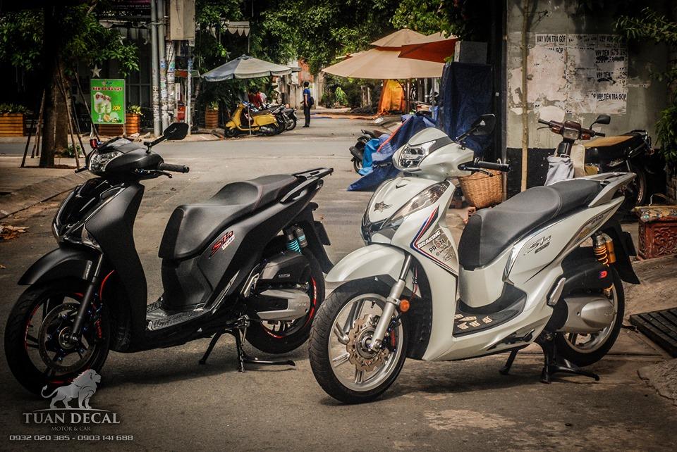 SH300i phien ban full do choi khoe dang duoi nang chieu Sai Gon