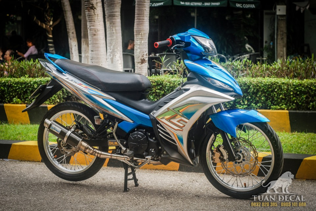 Exciter 135 do dam chat the thao voi phong cach Lc135