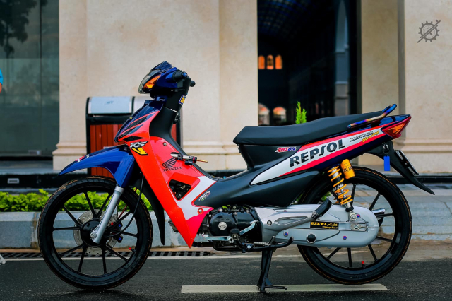 Honda Wave Repsol do bien the moi dep tao bao cua dan choi Can Tho - 3