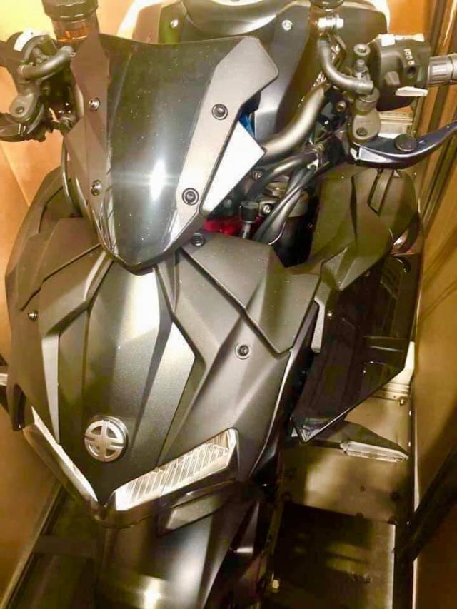 Kawasaki Z H2 ro ri hinh anh thuc te truoc khi ra mat vao cuoi thang 10