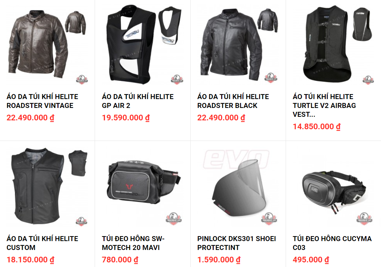 Shop bao ho mo to Bigbike diem den uy tin cua Biker tai trung tam Sai Gon - 10