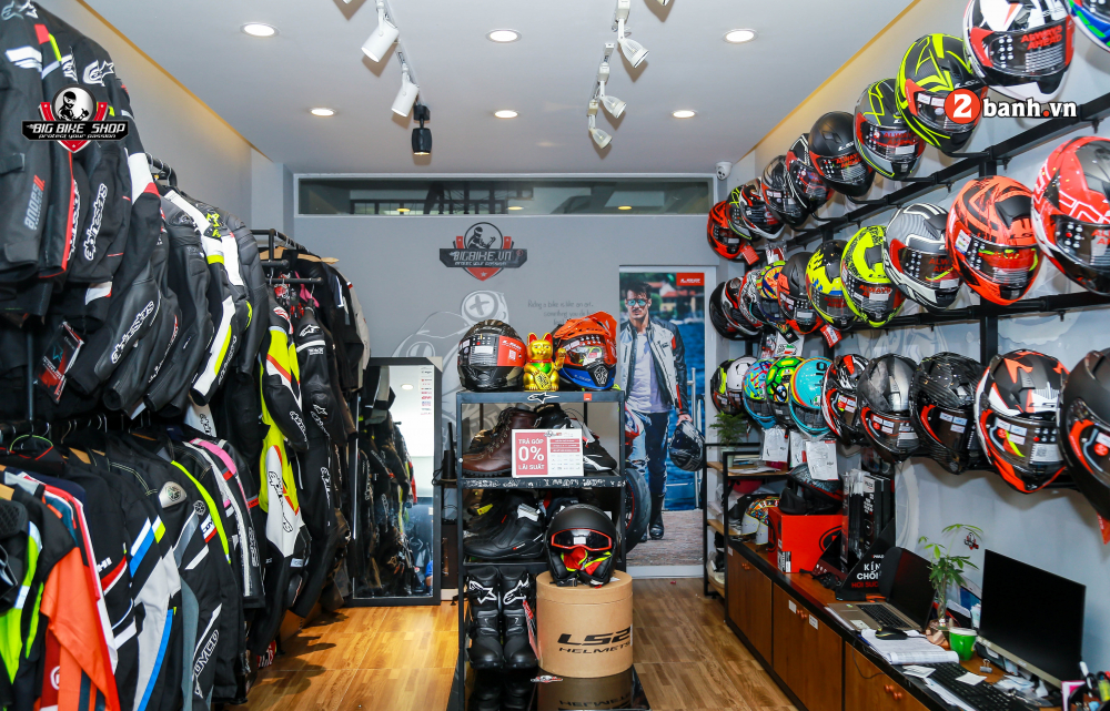 Shop bao ho mo to Bigbike diem den uy tin cua Biker tai trung tam Sai Gon
