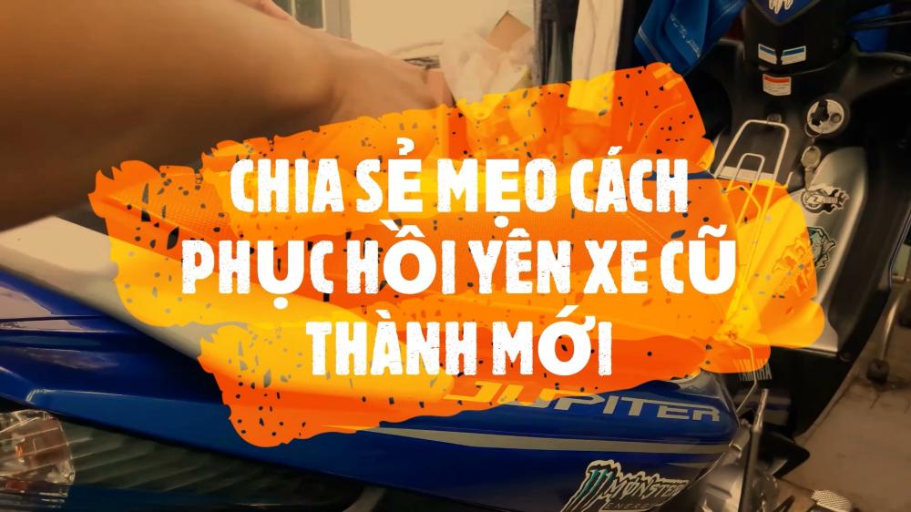Dung 2M Vlog Yamaha Jupiter CHIA SE MEO Cach phuc hoi yen xe may cu thanh moi
