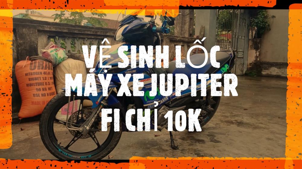 Dung 2M Vlog Yamaha Jupiter GP va RC Cach Ve Sinh Loc May Xe Jupiter Re Beo tai nha