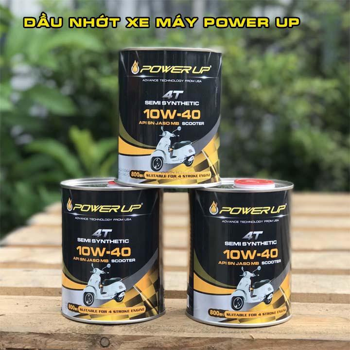 Dau nhot xe may nhap khau Malaysia thuong hieu Power Up Nhot xe may nhap khau gia si chinh hang - 3