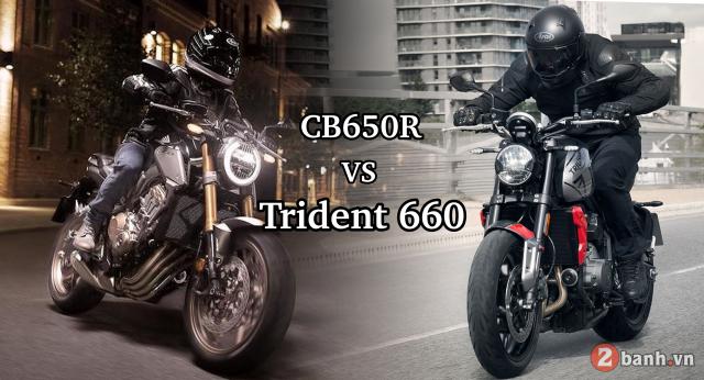 Honda CB650R va Triumph Trident 660 tren ban can thong so